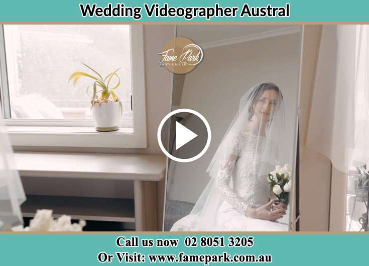 Bride already prepared in front of the mirror Austral NSW 2179