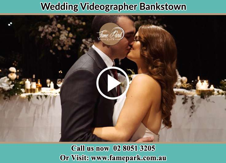 Bride and Groom kissed at the dance floor Bankstown NSW 2200