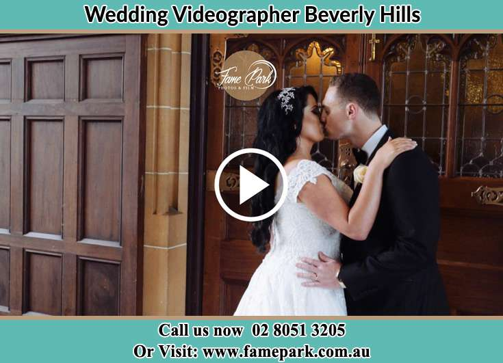 Bride and Groom kissed at the hallway Beverly Hills NSW 2209