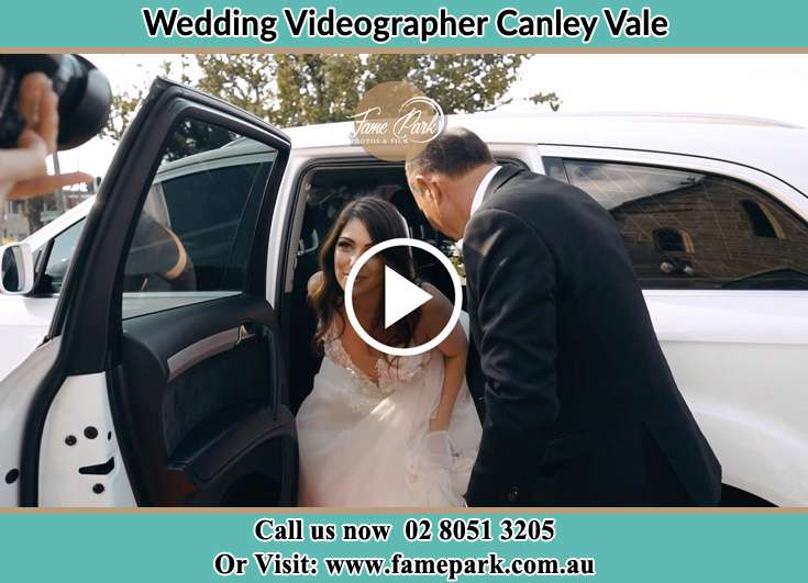The Bride getting out of the bridal car Canley Vale NSW 2166