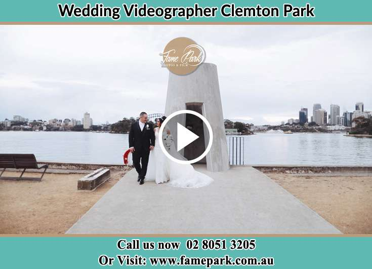 The Groom and the Bride walking away from the shore Clemton Park NSW 2206
