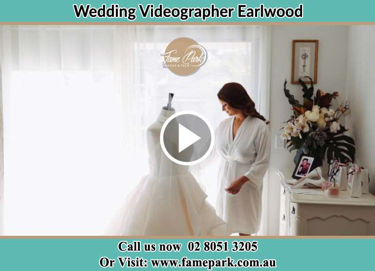 The Bride cheking her bridal gown Earlwood NSW 2206
