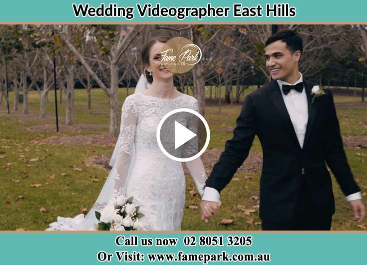 The Groom and the Bride walking in the park East Hills NSW 2213