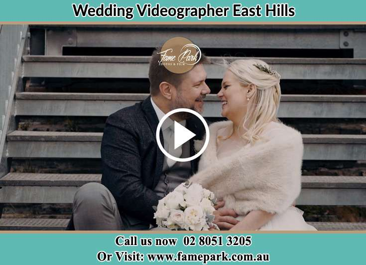 The Groom and the Bride smiling at each other East Hills NSW 2213