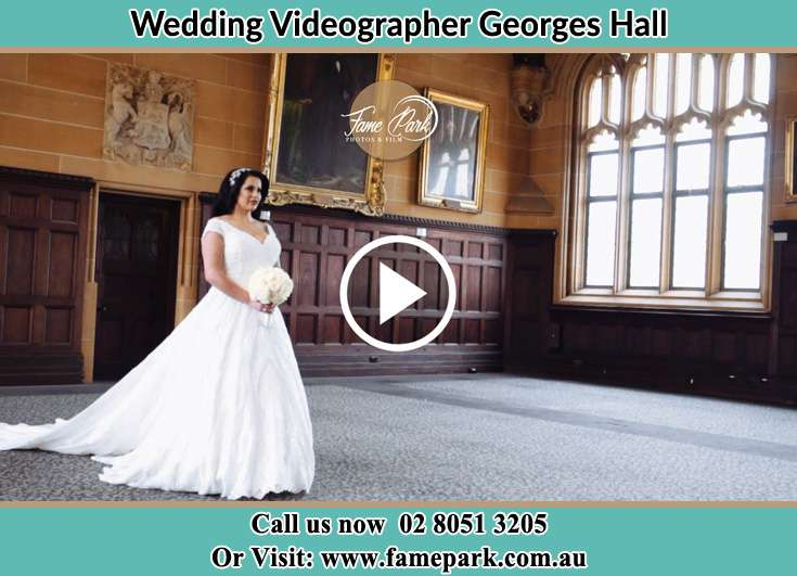 The Bride holding a bouquet of flowers Georges Hall NSW 2198