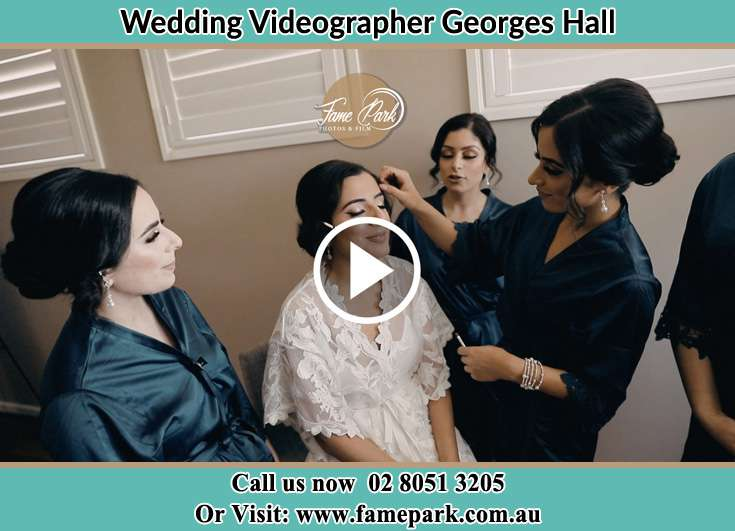 The Bridesdmaids helping the Bride to get ready for the wedding Georges Hall NSW 2198