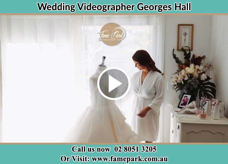 The Bride checking her bridal dress Georges Hall NSW 2198