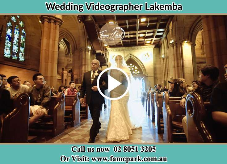 Bride and her father walking at the aisle Lakemba NSW 2195