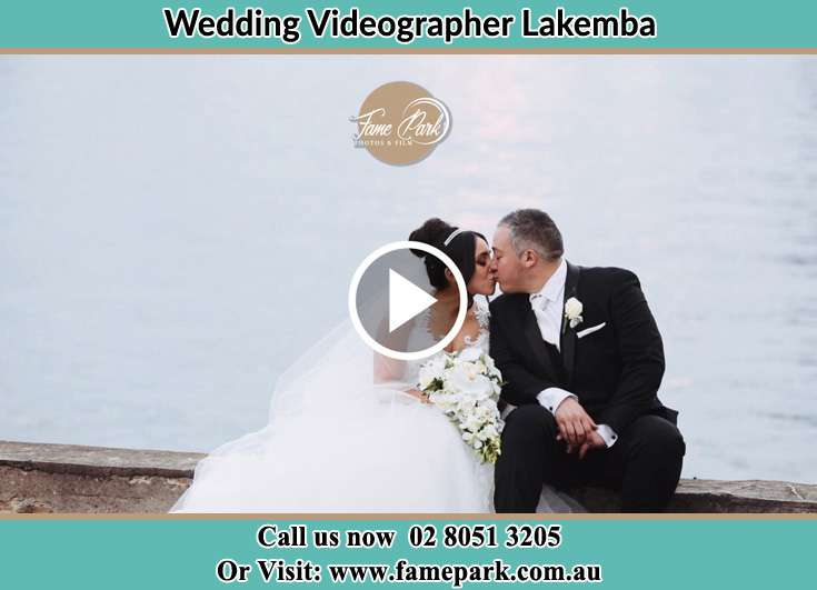 Bride and Groom kissed near the shore Lakemba NSW 2195