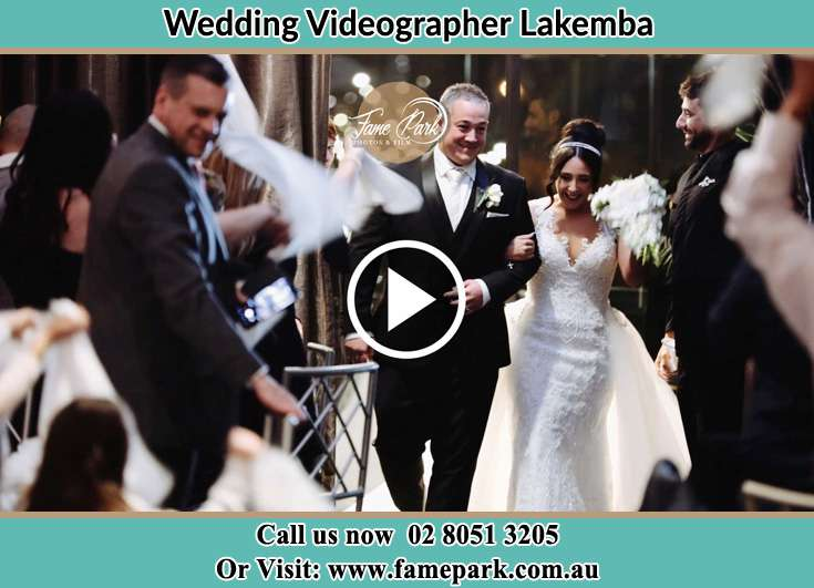 Bride and Gr4oom walking through the aisle Lakemba NSW 2195