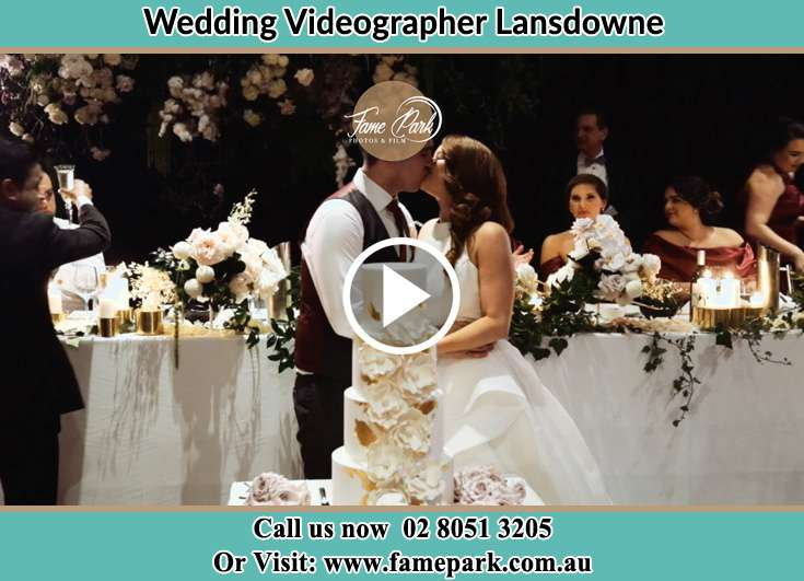 Bride and Groom kissed at the reception Lansdowne NSW 2430