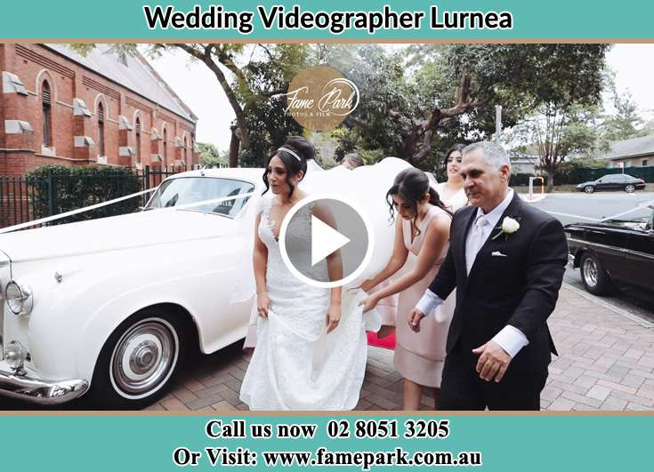 Bride and her father walking to church Lurnea NSW 2170