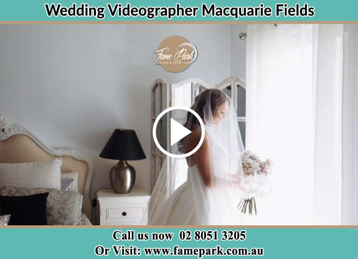 Bride already prepared near the window Macquarie Fields NSW 2564