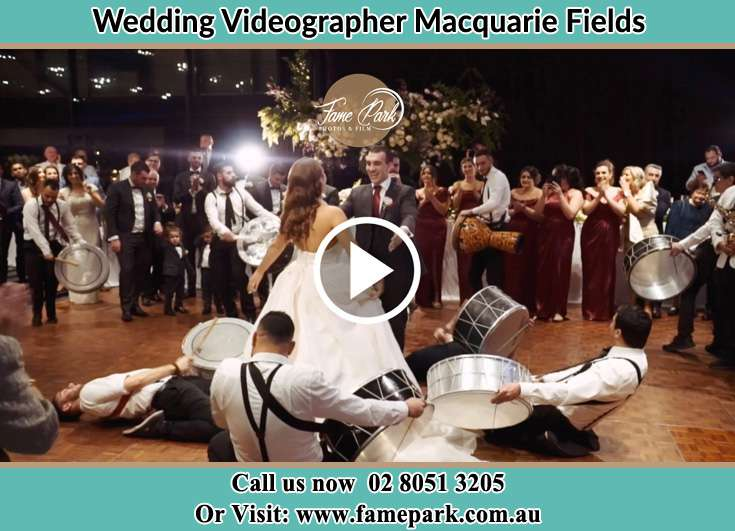 Bride and Groom at the dance floor Macquarie Fields NSW 2564