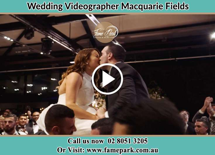Bride and Groom kissed at the reception Macquarie Fields NSW 2564