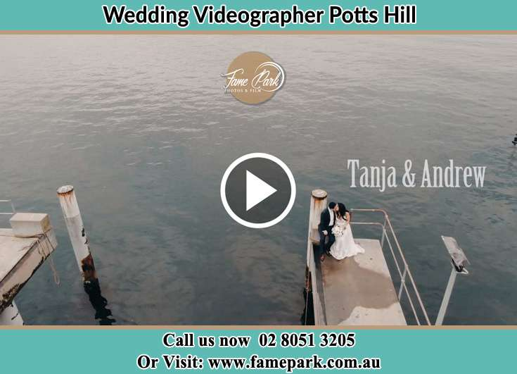 Bride and Groom kissed at the bay Potts Hill NSW 2143