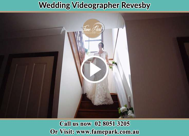 The Bride walking downstairs Revesby NSW 2212