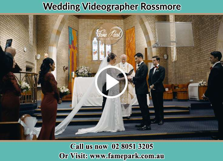 During the wedding ceremony Rossmore NSW 2557