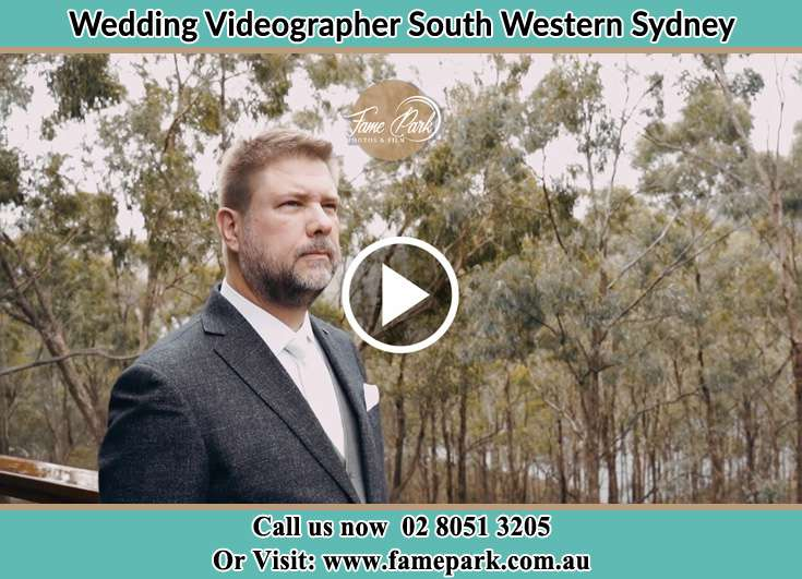 The Groom waiting intently for her Bride South Western Sydney