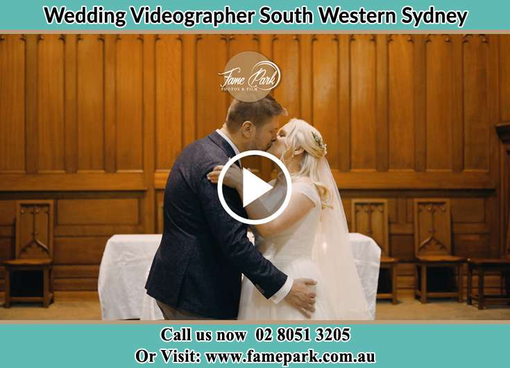 The new couple kissing South Western Sydney