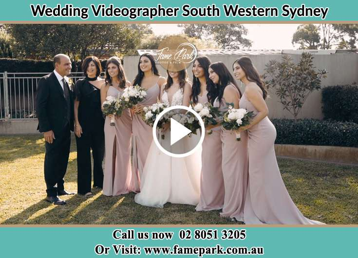 The Bride and her bridesmaids South Western Sydney