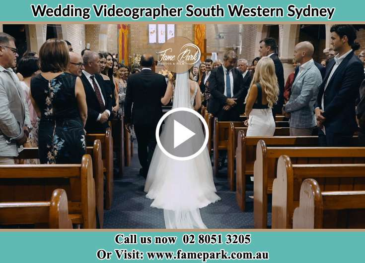 The bride walking down the aisle South Western Sydney