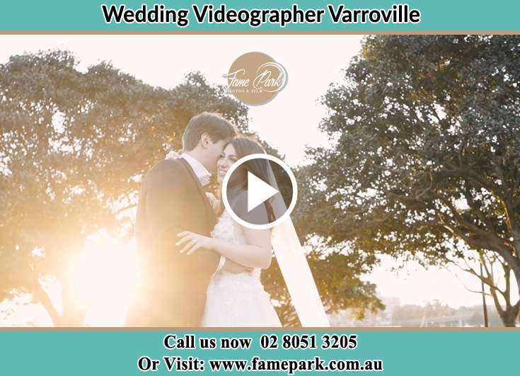 The Bride and the groom posing at the camera Varroville NSW 2566