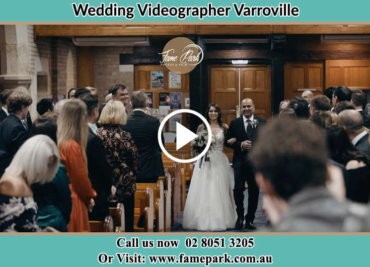 The Bride walking down the aisle with her groom Varroville NSW 2566