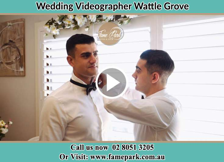 The Groom Assisting by his best man Wattle Grove NSW 2173