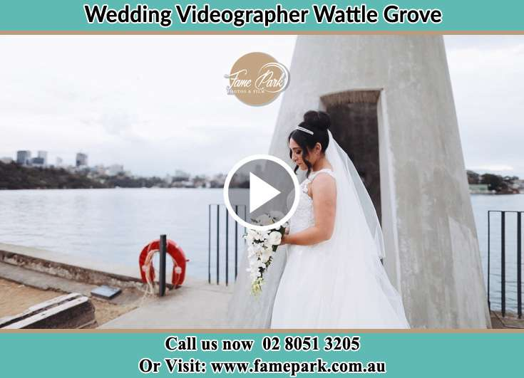The Bride posing for the camera Wattle Grove NSW 2173