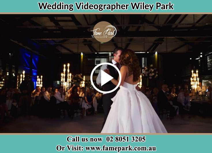Bride and Groom at the dance floor Wiley Park NSW 2195